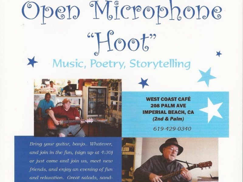 Open Mic Music Poetry Comedy West Coast Cafe