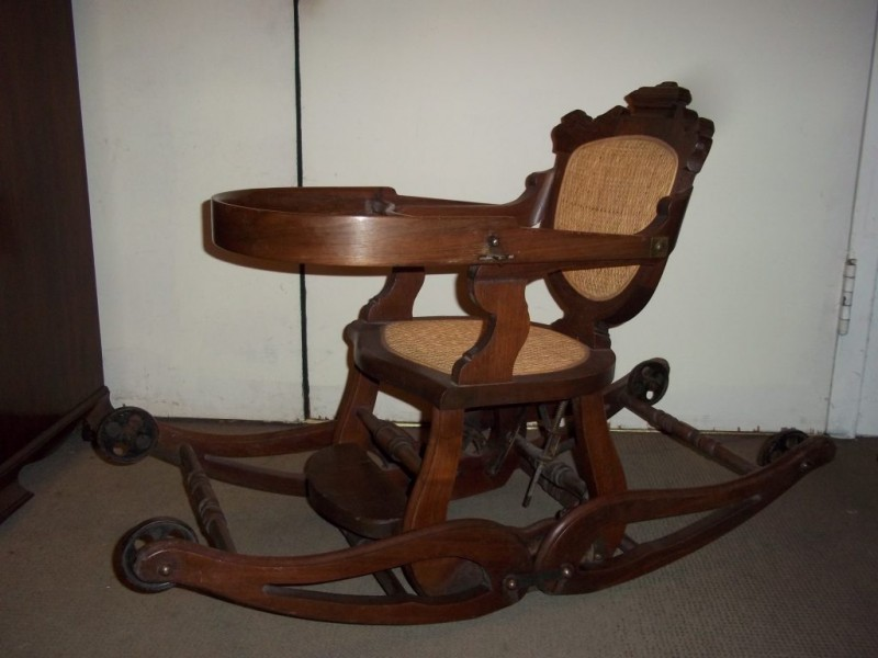 ... Antique of the Week: Eastlake-Style High Chair/Rocker-0 ... - Antique Of The Week: Eastlake-Style High Chair/Rocker Kensington