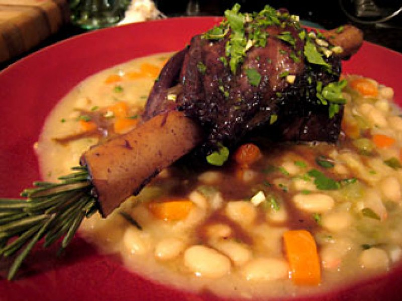 Easter Recipes: Braised Lamb Shanks with White Beans