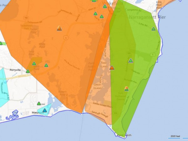 Widespread Power Outages In Washington County Narragansett RI Patch - National grid power outage map ri