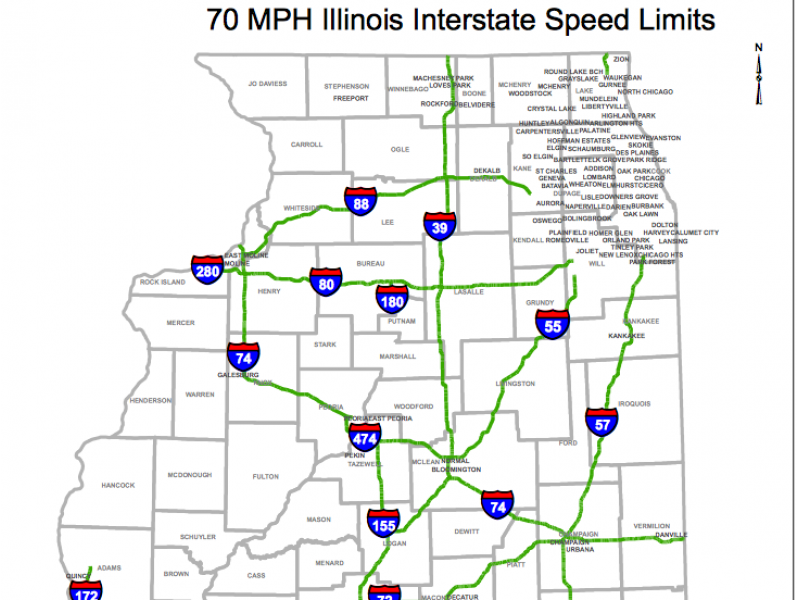 New Law: See Which Highways Will Have a 70 MPH Speed Limit ...