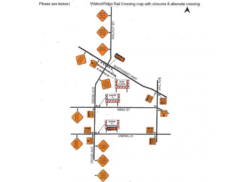 railroad crossing in arlington heights to close in october
