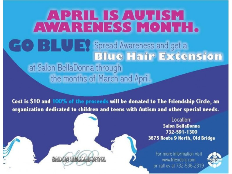 Spread Autism Awareness With A Blue Hair Extension Matawan Nj Patch