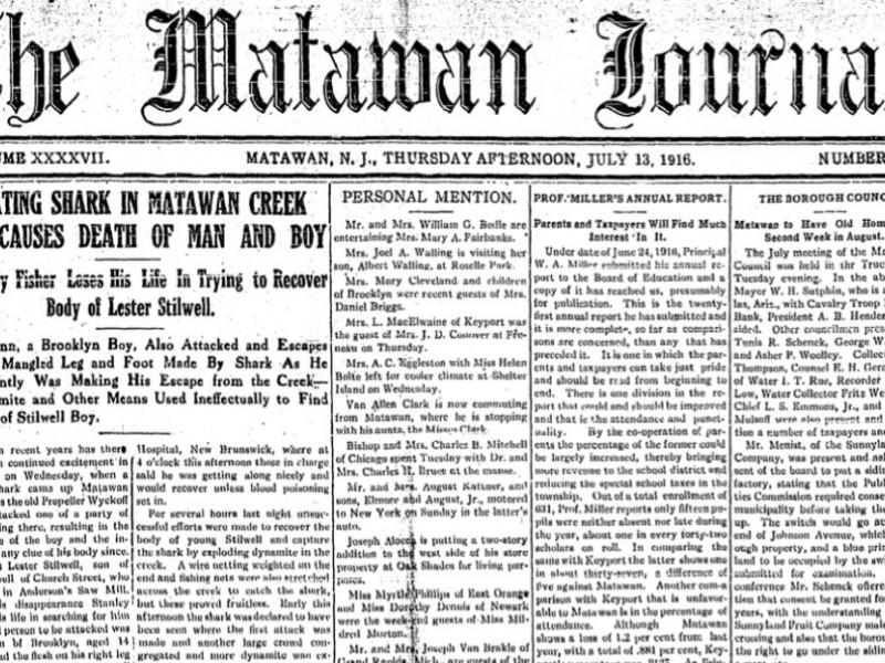 Flash Back The Matawan Shark Attacks Of 1916