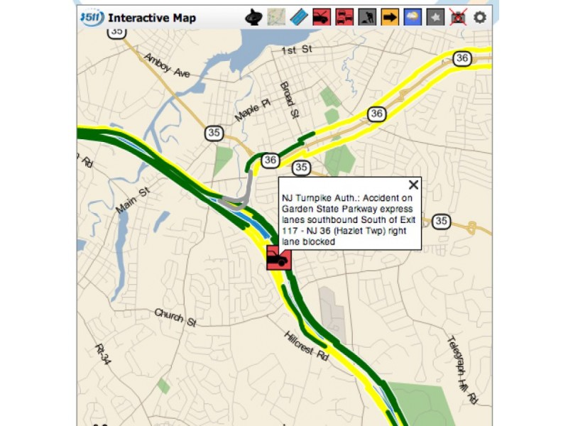 Update man killed in parkway accident near exit 117 on - Accident on garden state parkway north today ...