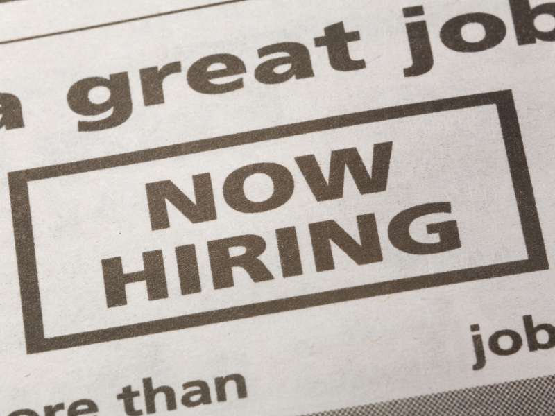 Job Openings: Human Resources, Seasonal Sales and Email Support Analyst