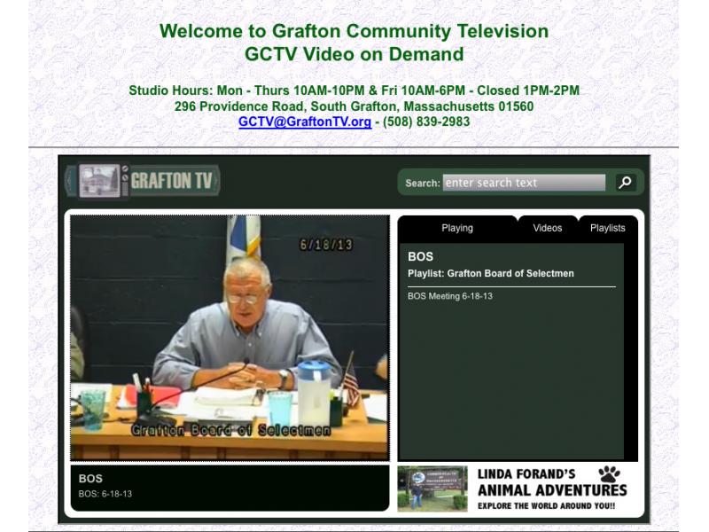 GCTV Upgrades Video on Demand   Grafton, MA Patch