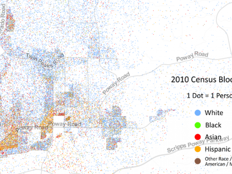 Racial Dot Map Points Out Poway\'s Demographics | Poway, CA Patch
