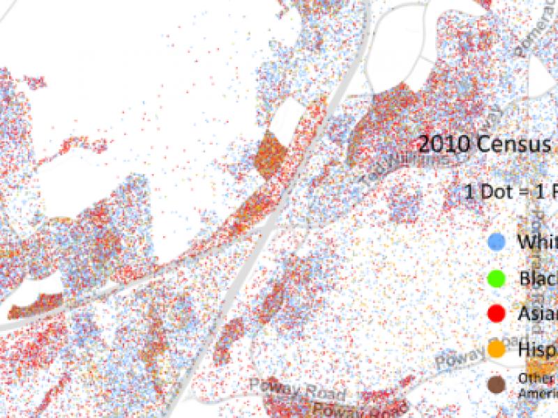 Racial Dot Map Points Out Rancho Bernardo\'s Demographics | Rancho ...