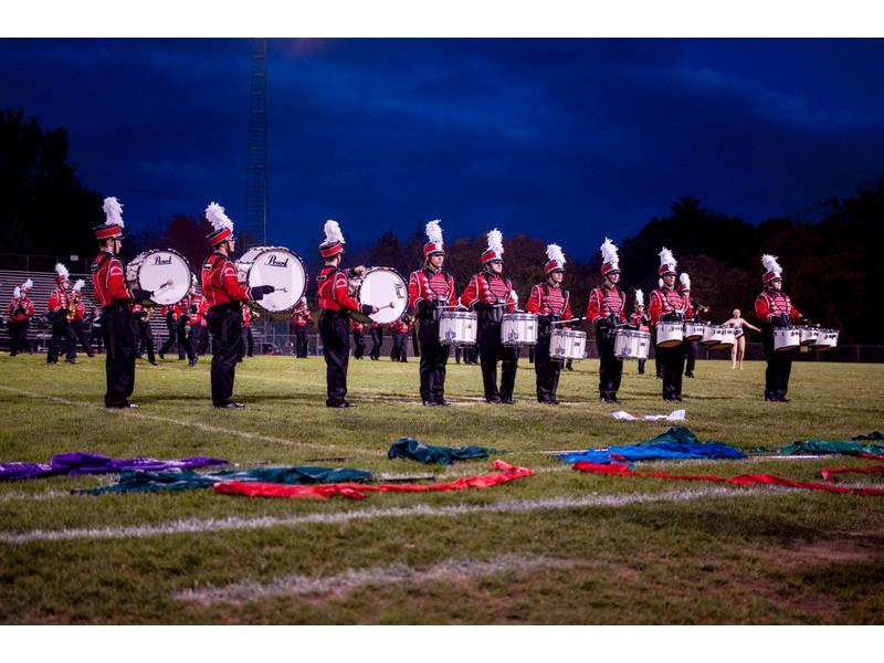 Bedford Marching Band Color Guard Perform In Dover