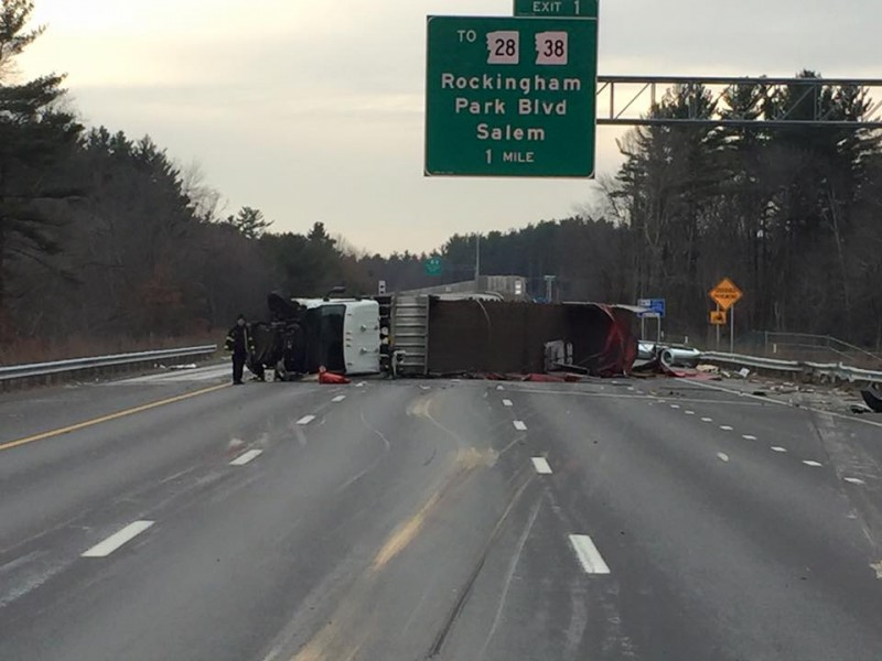 I-93 Closed Due to Tractor Trailer Crash - Salem, NH Patch