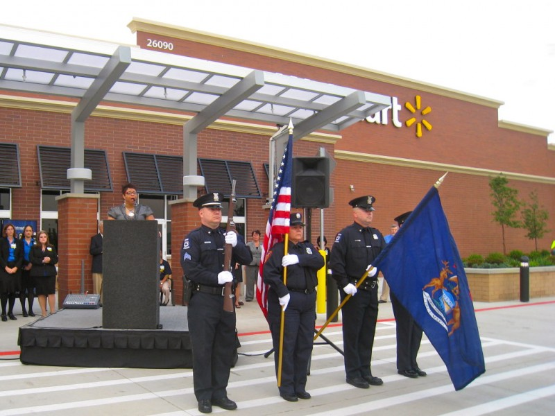 Walmart celebrates grand opening in novi novi mi patch for Royal family motors canton