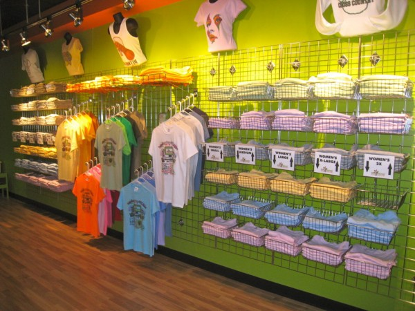 C c shirt works were located inside rivergate mall for Meadowood mall custom t shirts