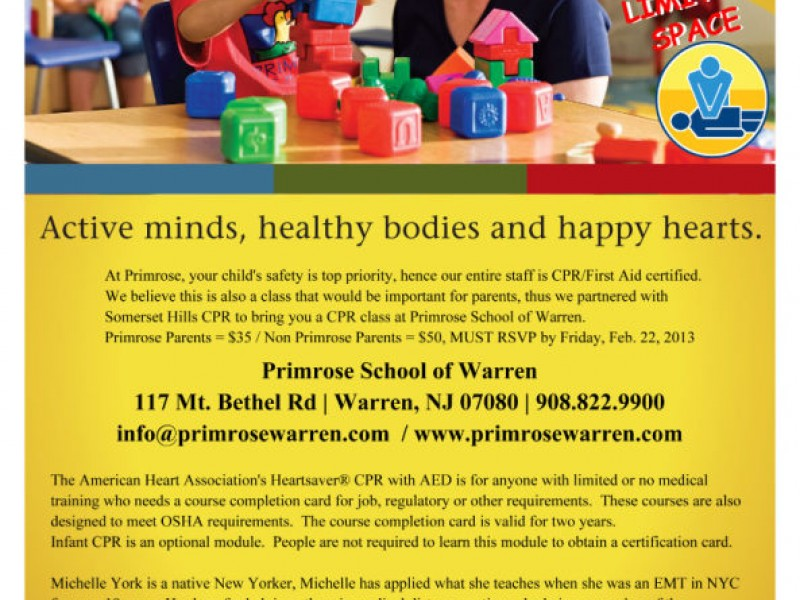 Cpr Classes With Somerset Hills Cpr Basking Ridge Nj Patch