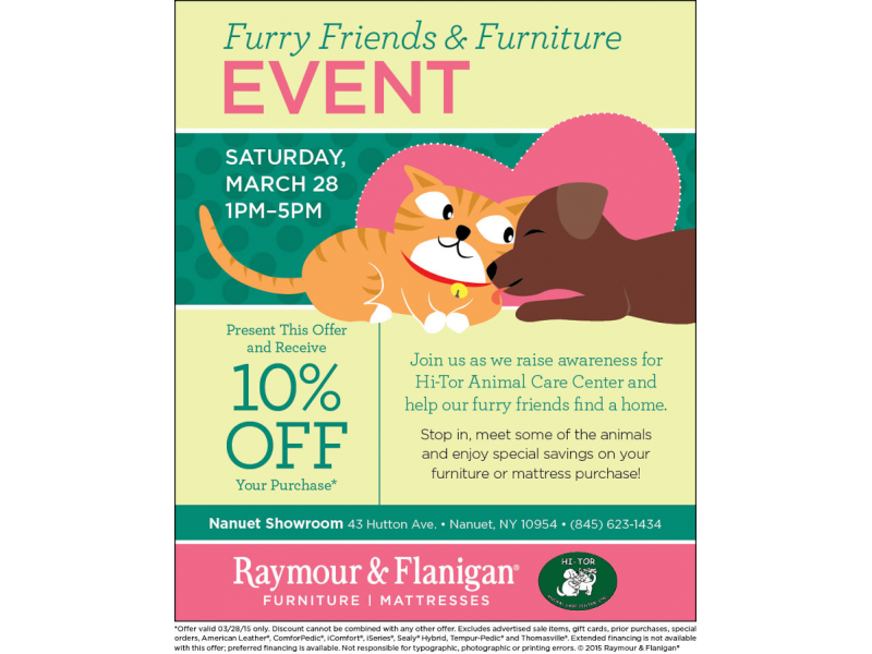 Furry Friends Amp Furniture Event At Raymour Amp Flanigan In