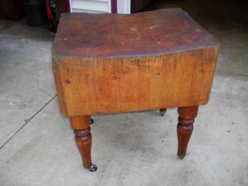 Saw It On Craigslist Very Old Heavy Butcher Block Table