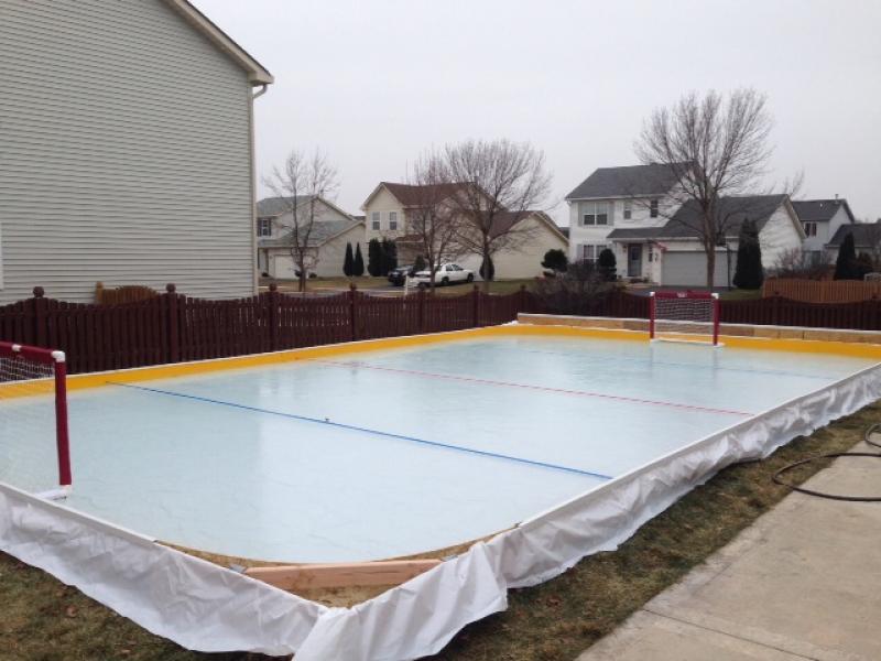 Dad Builds Hockey Rink—And Treasured Memories—in His