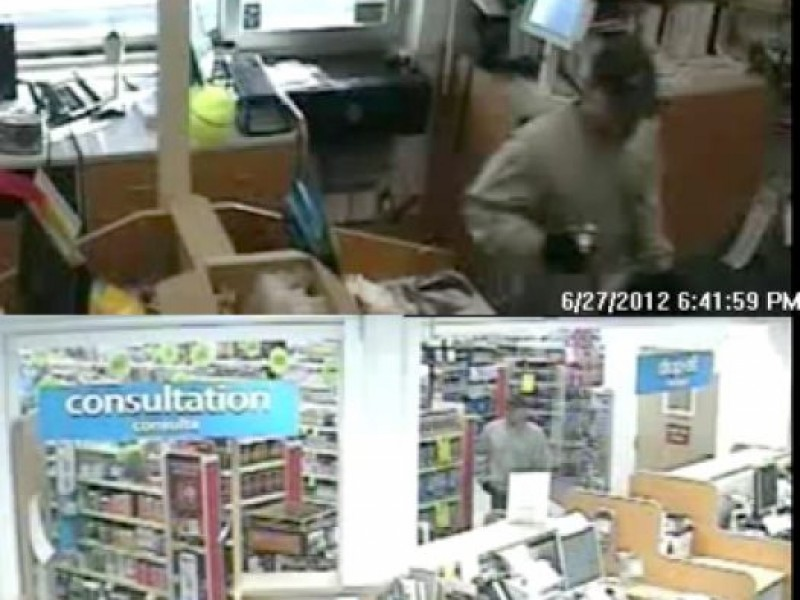 photos show cvs pharmacy robber with silver revolver fridley police