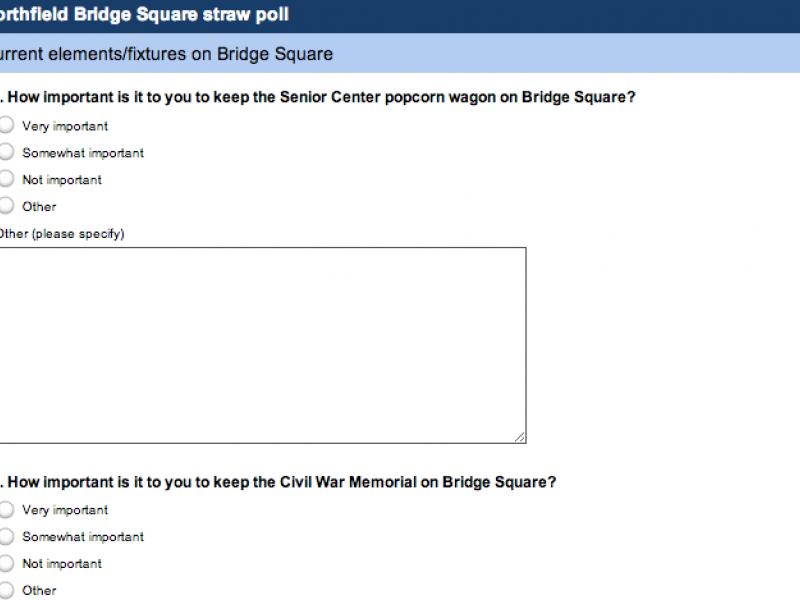 Take the Bridge Square Straw Poll | Northfield, MN Patch