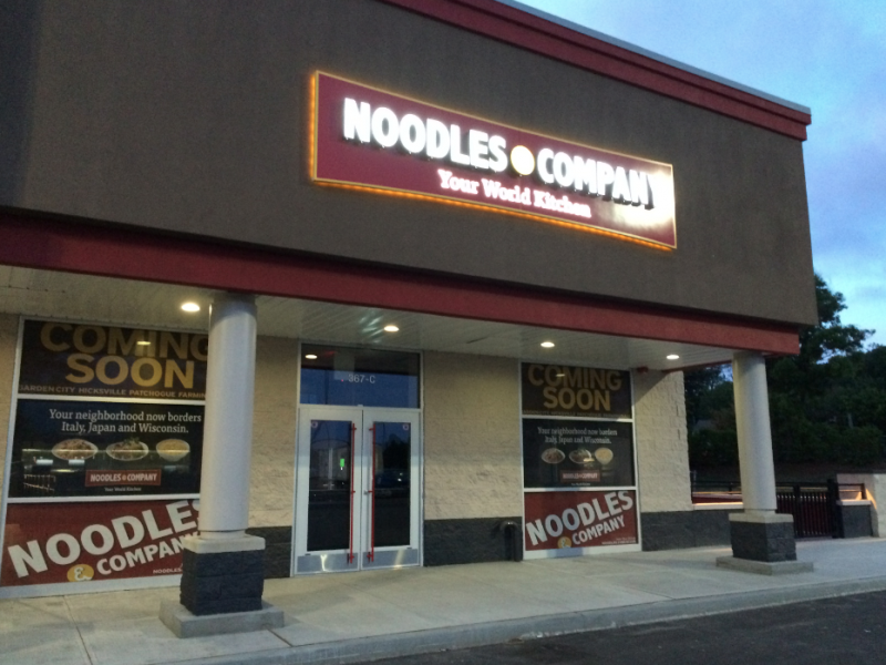 Noodles Company Sets Opening Date For Patchogue Restaurant