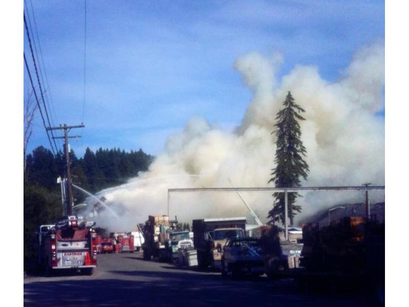 Multiple Fire Departments Battle All Wood Recycling Blaze ...