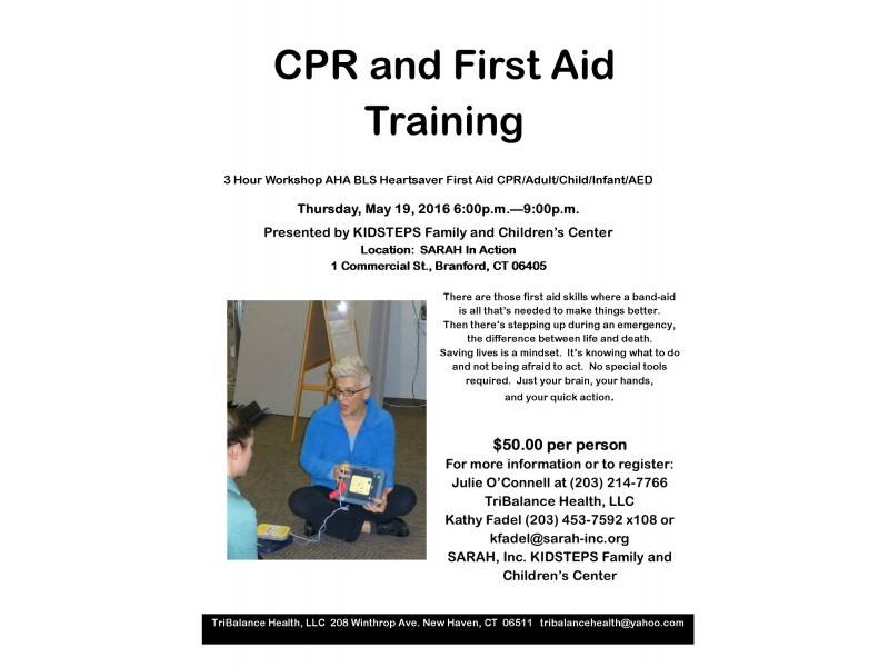 Cprfirst Aid Class At Sarah In Branford Branford Ct Patch