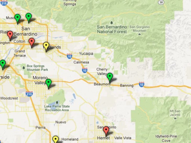 Map: Compare Emergency Room Treatment Times | Redlands, CA Patch