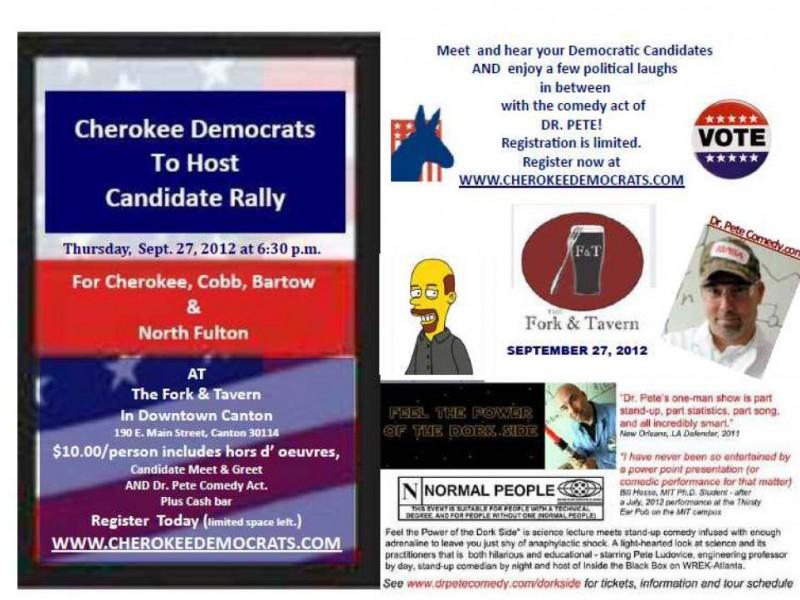Cherokee democrats host candidate rallyfundraiser canton ga patch m4hsunfo
