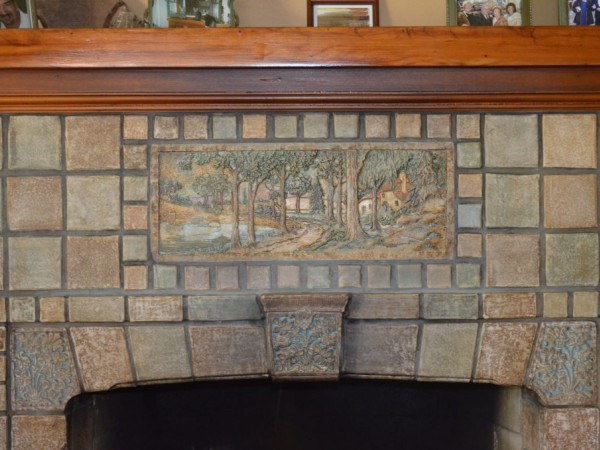Batchelder tiles are the 39 cat s meow 39 monrovia ca patch for Arts and crafts fireplace tile