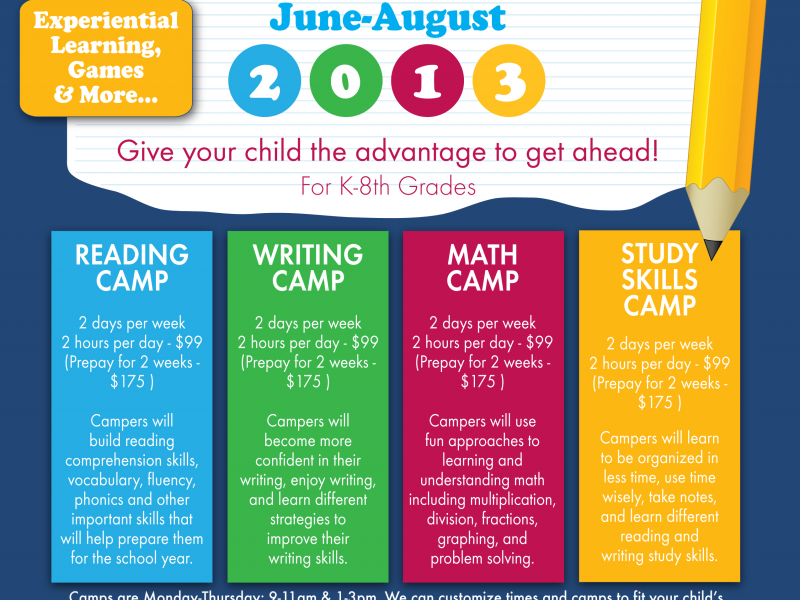 Summer Strategies To Improve Your >> Summer Learning Camps Poway Ca Patch