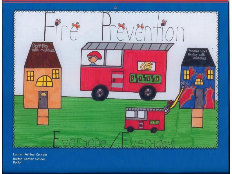 Kids Art Makes Fire Safety Calendar Montville Ct Patch
