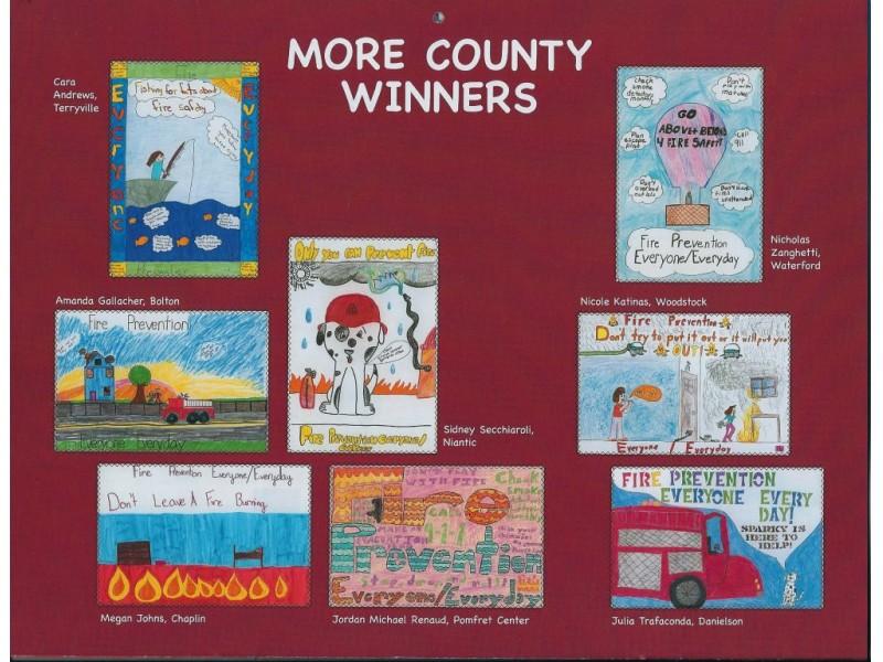 Kids Safety Calendar : Kids art makes fire safety calendar montville ct patch