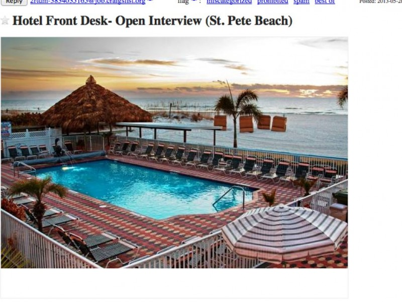 Job Openings in St. Pete Beach Posted to Craigslist ...