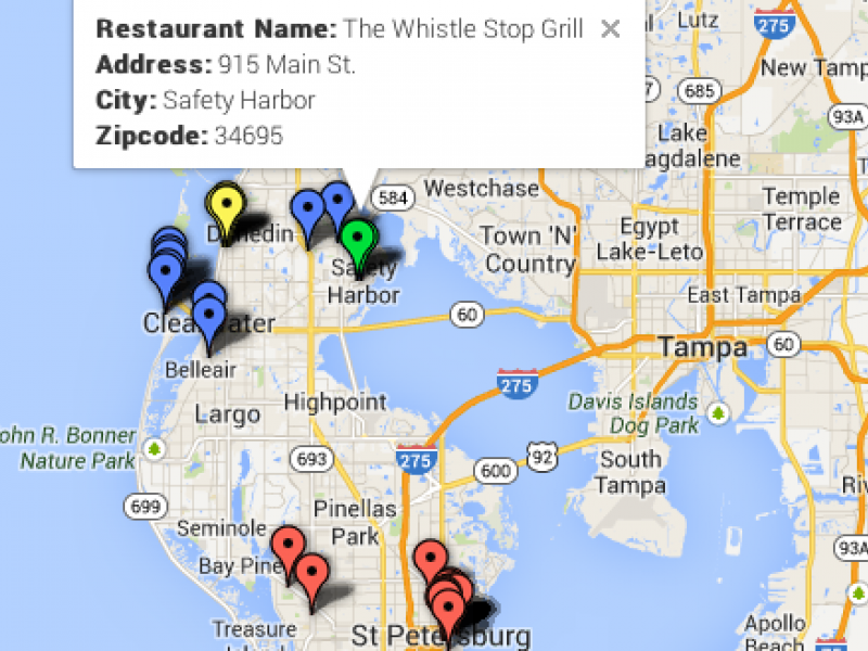 Doggy Dining Map Pet Friendly Restaurants In Safety Harbor