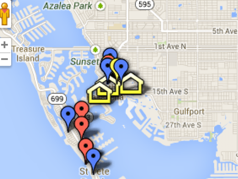 Florida Panhandle Map.South Pasadena Crime Map July 21 Aug 9 Pinellas Beaches Fl Patch