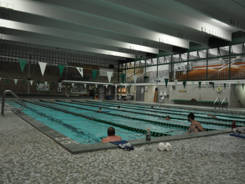 Evergreen park masters swim blooming to life evergreen - Evergreen high school swimming pool ...