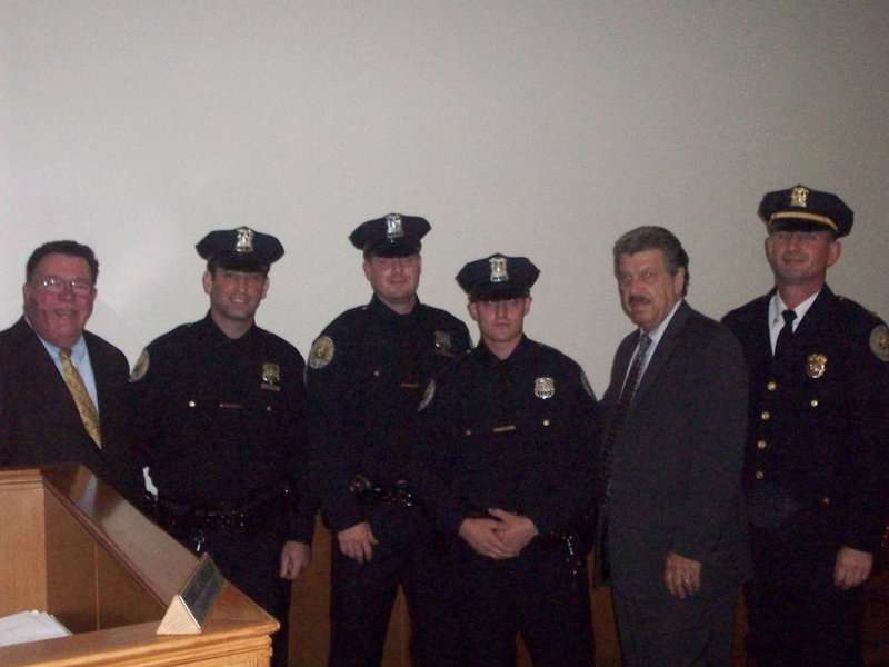Three garden city police officers sworn in thursday - Garden city police department ny ...