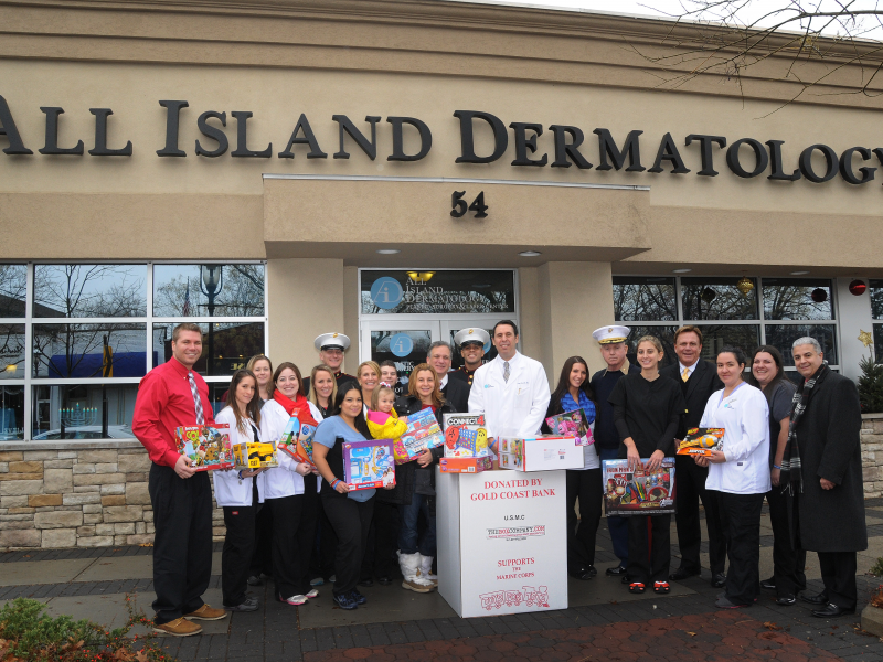 Perfect All Island Dermatology Welcomes USMC Toys For Tots To Garden City
