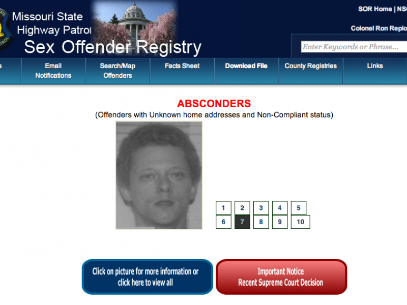 Sex offenders lists in missouri consider, that
