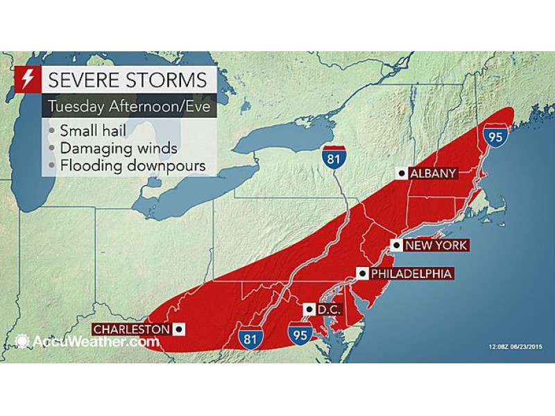Update Severe Thunderstorm Tornadoes Reportedly Hit New Jersey Tens Of Thousands Lose Power