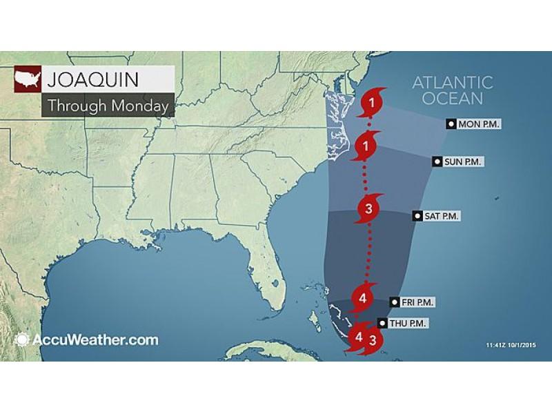update hurricane joaquin strengthens to cat 4 could strike n j