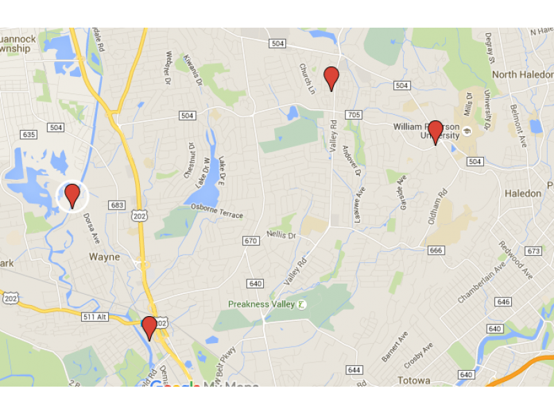 Sexual predators in passaic nj map