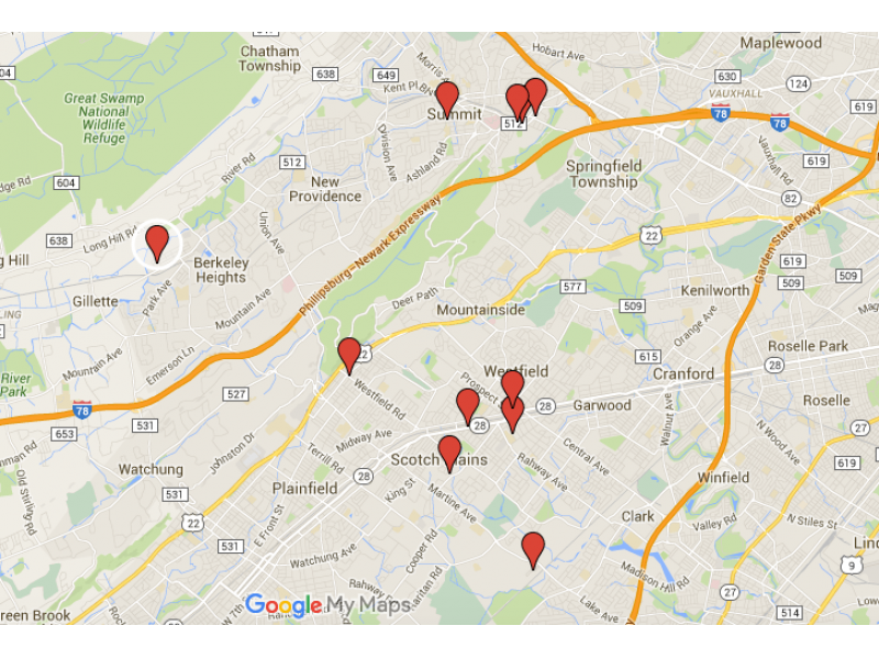 New Providence Berkeley Heights Area Sex Offender Map Homes To