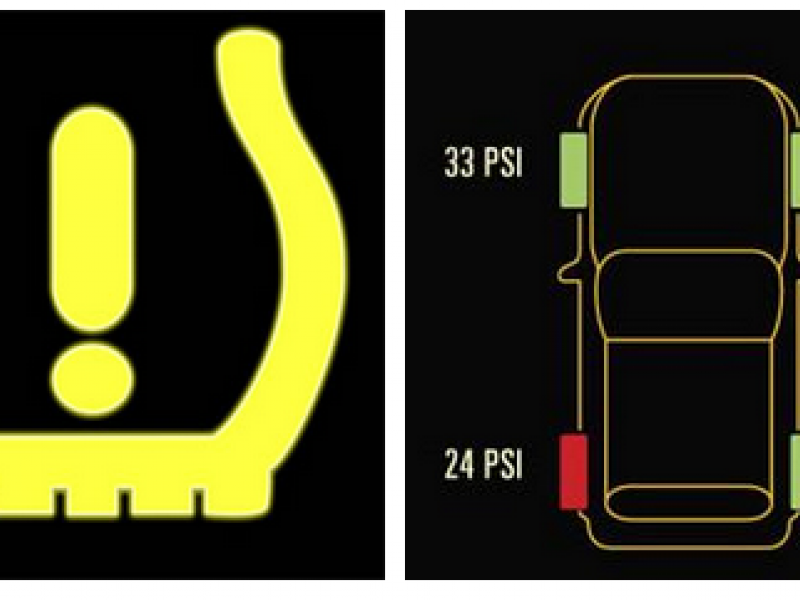 Cold Weather Might Be Causing Your Tire Pressure Light To Come On