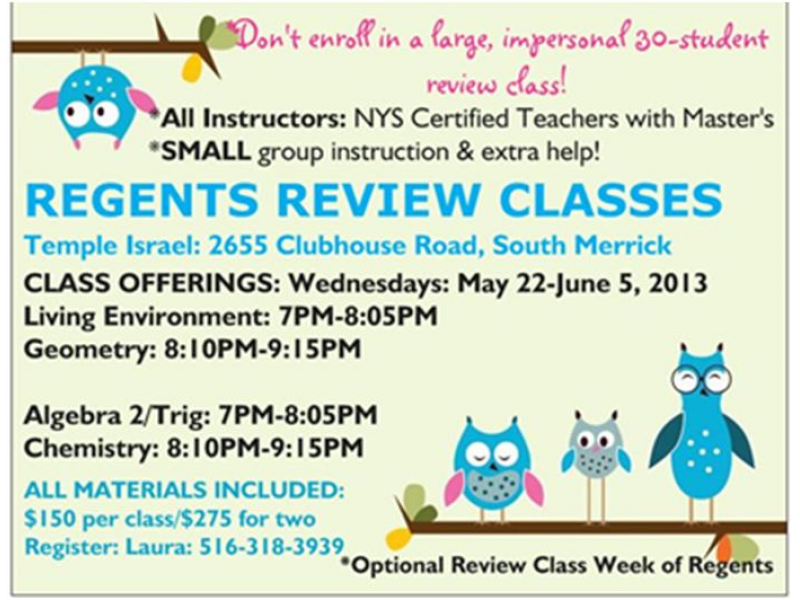 Regents Review Classes | Bellmore, NY Patch