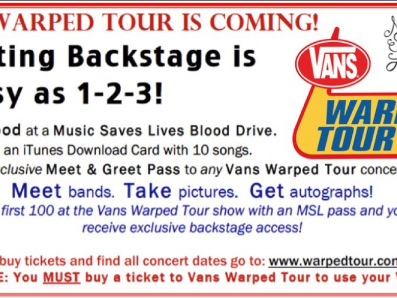 How Do You Get Backstage Passes For Warped Tour