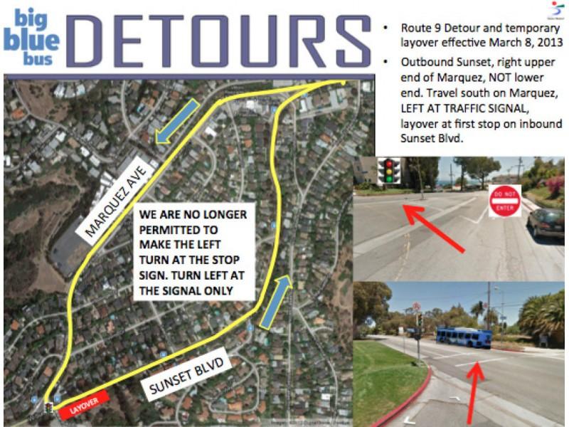 Santa Monica Big Blue Bus Starts Route 9 Detour Through Palisades
