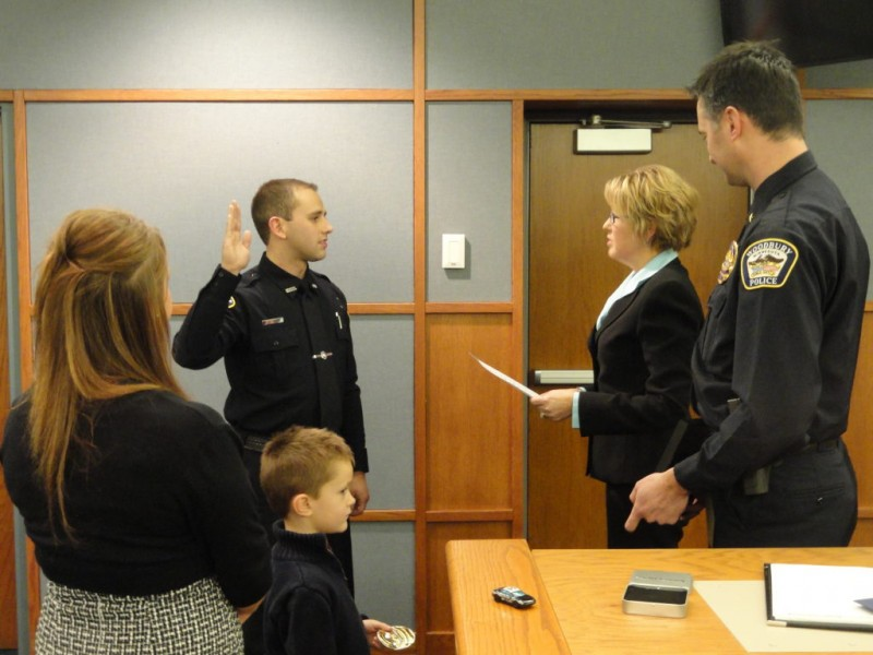 woodbury police department gets new officer