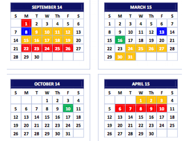 3 Years Of Proposed Aps Calendars Released For Community Input