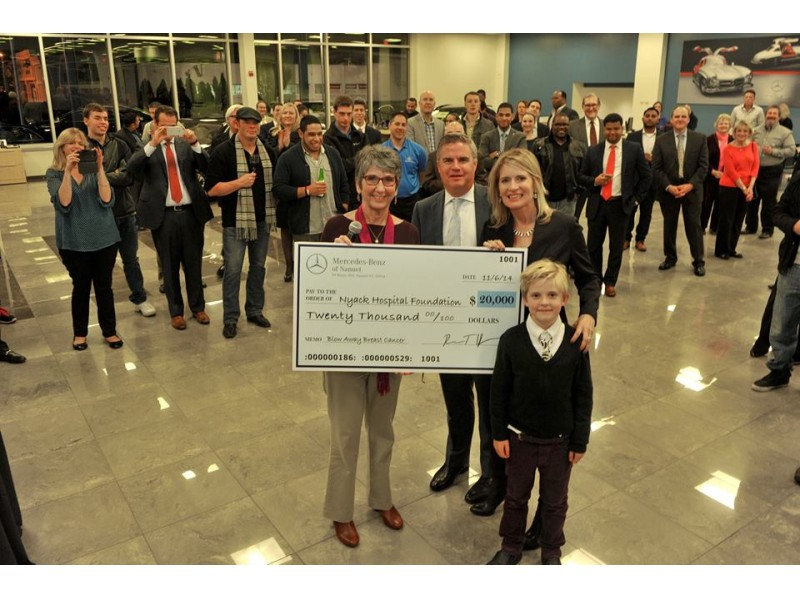 Nyack hospital receives donation from mercedes benz of for Mercedes benz of nanuet nanuet ny